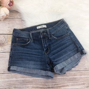 Abercrombie and Fitch Cuffed Denim Shorts